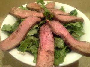 This is the perfect cut of beef to add to a salad--not fatty but still juicy and with great flavor and texture.