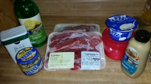 Ingredients for Greek Yogurt- and Mustard-Marinated Lamb