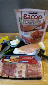 Ingredients for Jalapeno-Popper stuffed Chicken