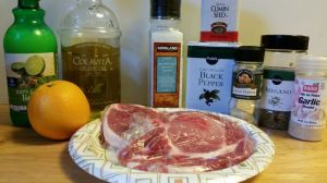 Orange and Lime Marinated Pork Chops Ingredients